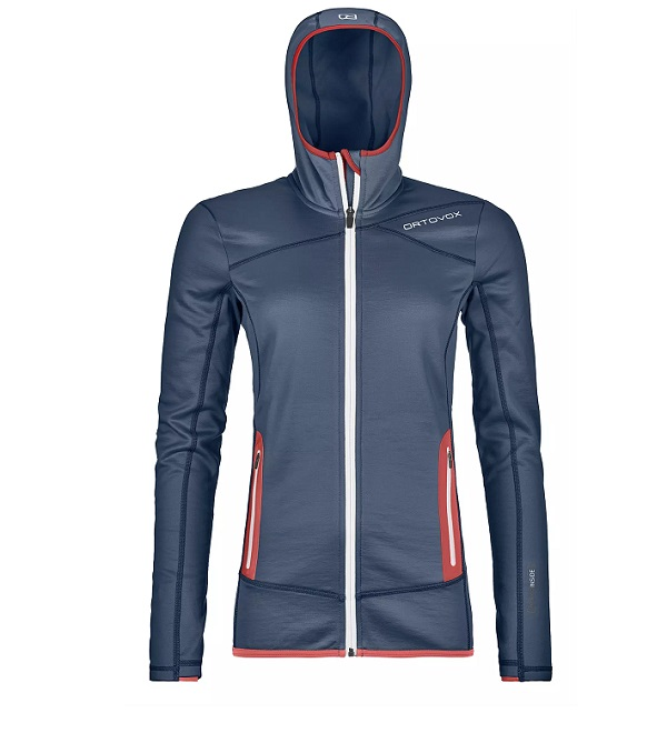 Mikina ORTOVOX W´s Fleece Hoody night blue