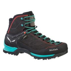 Topánky SALEWA WS MTN Trainer MID GTX black/ virvidian green