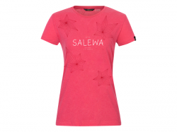 Tričko SALEWA Geometric DRY W t-shirt virtual pink melange